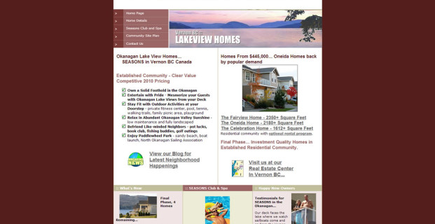 SeasonsVernon.com :: Real Estate Developer Website