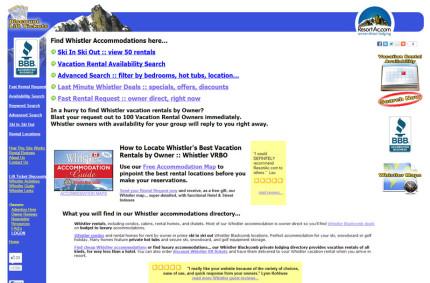 ResortAc.com :: Vacation Rentals Website