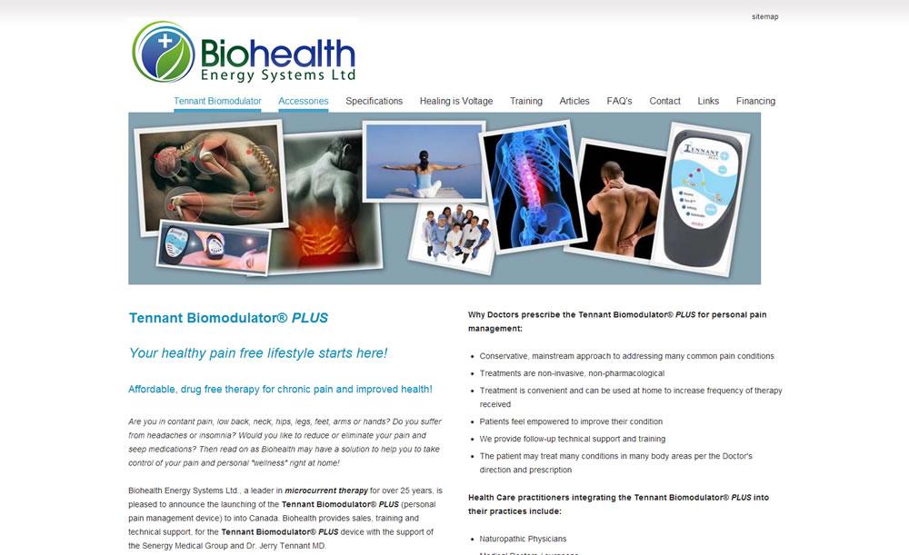 TennantBiomodulator.ca :: Natural Pain Relief Website