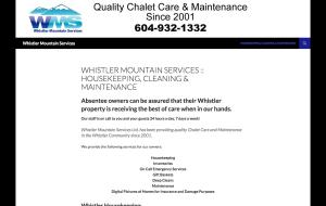 WhistlerMountainServices.com Services Website