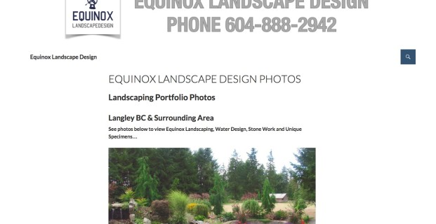 EquinoxLandscapeDesign.com :: Landscaping Website