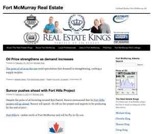FtMcmurrayABrealestate.com Website Blog