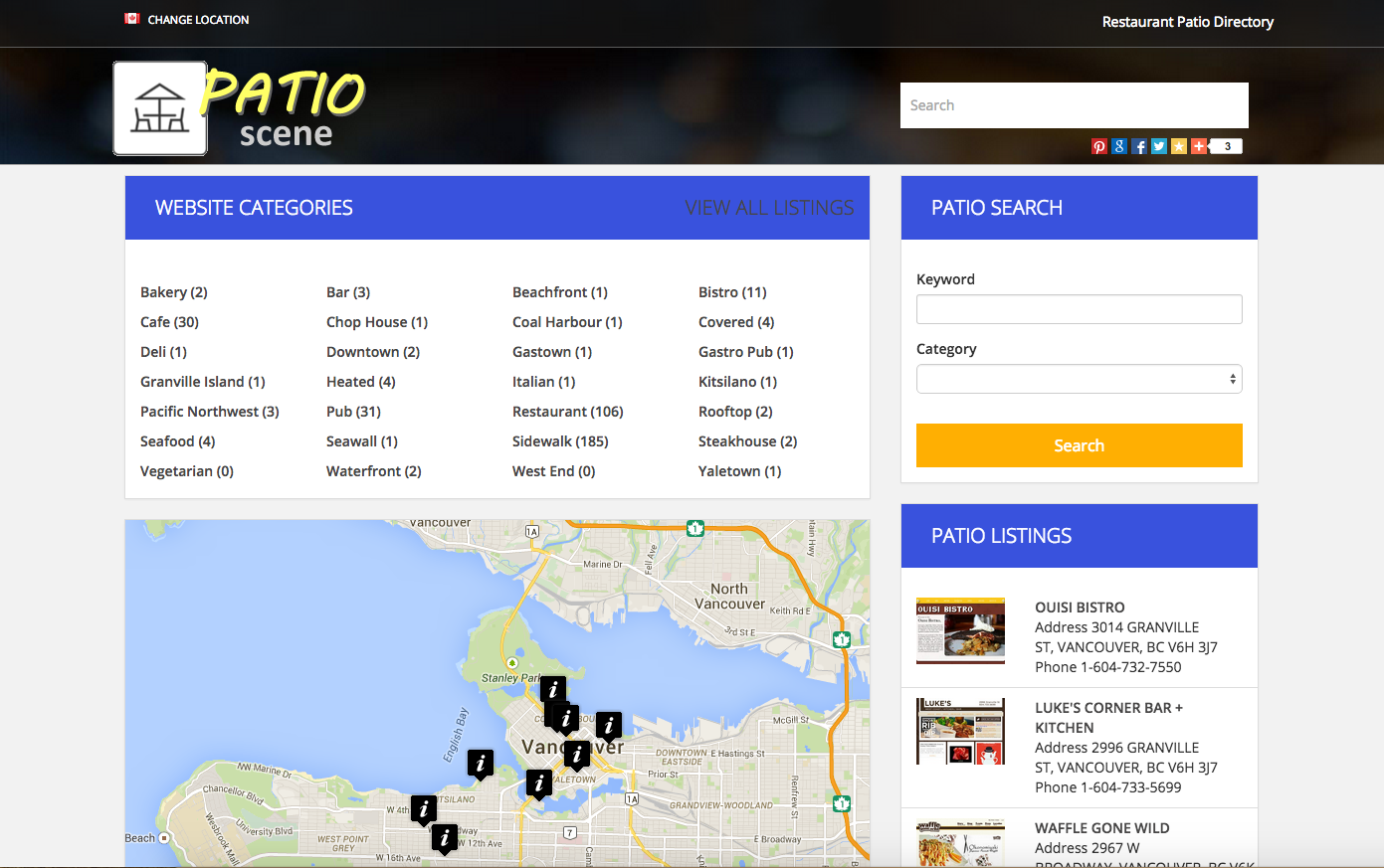 PatioScene ca Directory Website Project | About Websites Canada