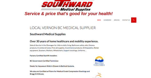 SouthwardMedicalSupplies.ca :: Medical Retail Website