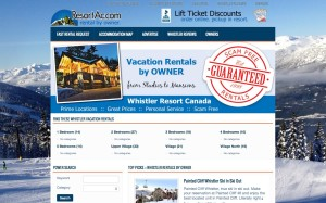 Whistler.ResortAc.com Vacation Rental by Owner VRBO Website Project
