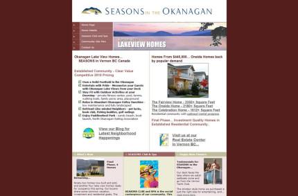SeasonsVernon.com :: Real Estate Developer Website