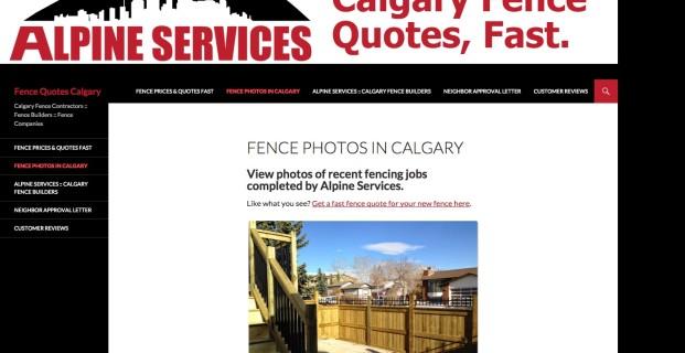 FenceQuotesCalgary.com :: Contractor Website