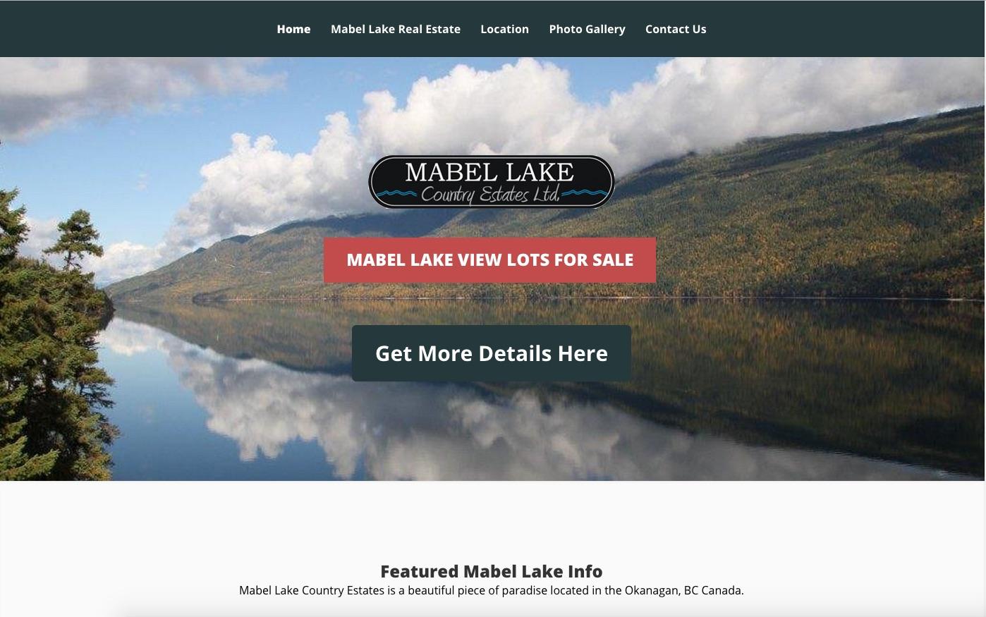MabelLake.ca :: Waterfront Real Estate Website