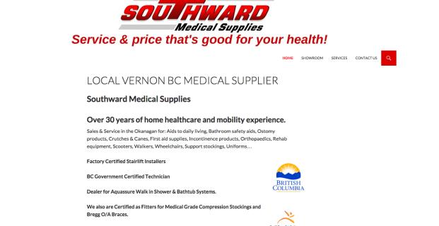 SouthwardMedicalSupplies.ca :: Medical Retail Website